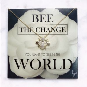 Jewelry - Be The Change Necklace with Bee Pendant